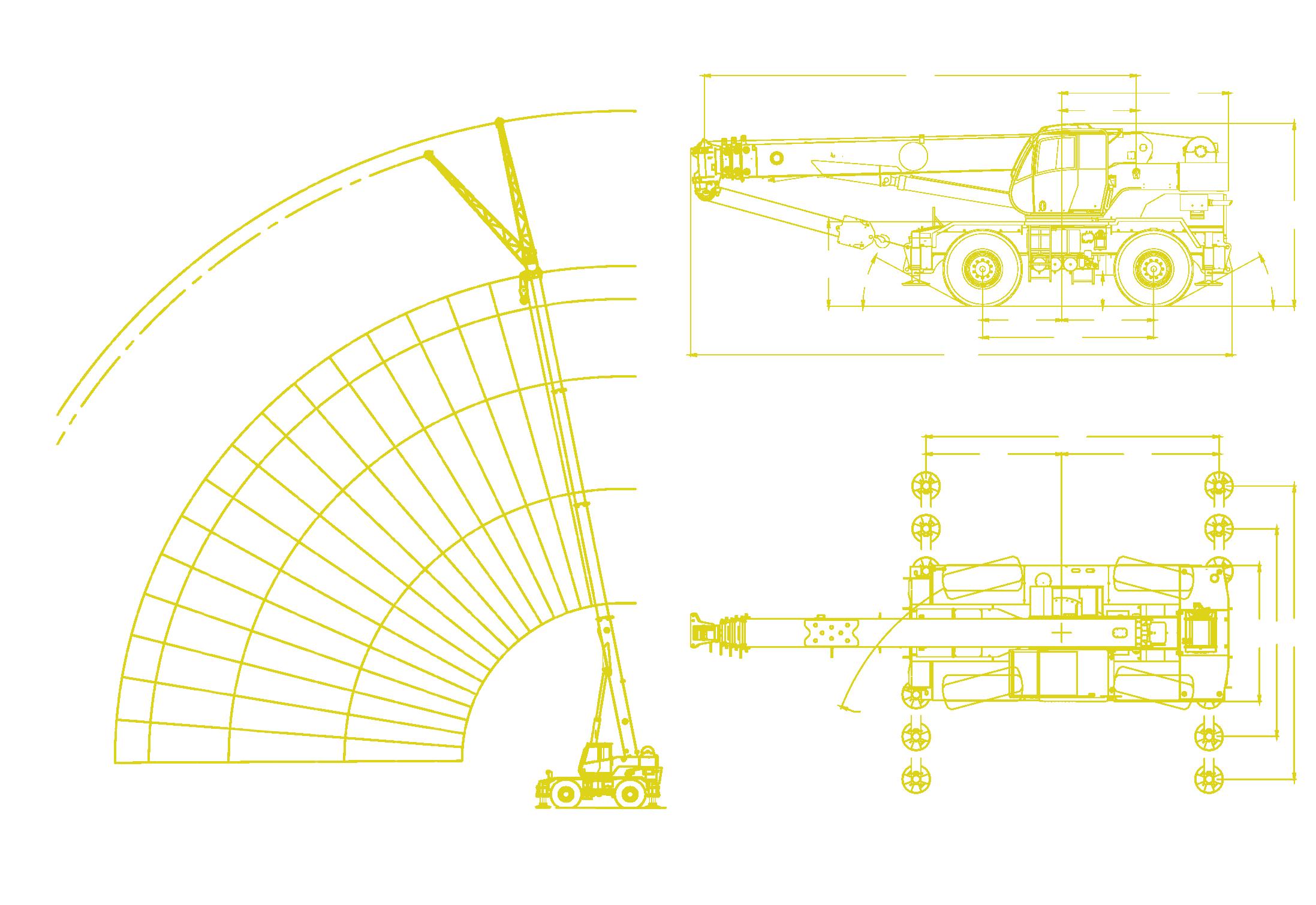 Locatelli - Gril 33.30 Working Envelope and Machine Diagrams
