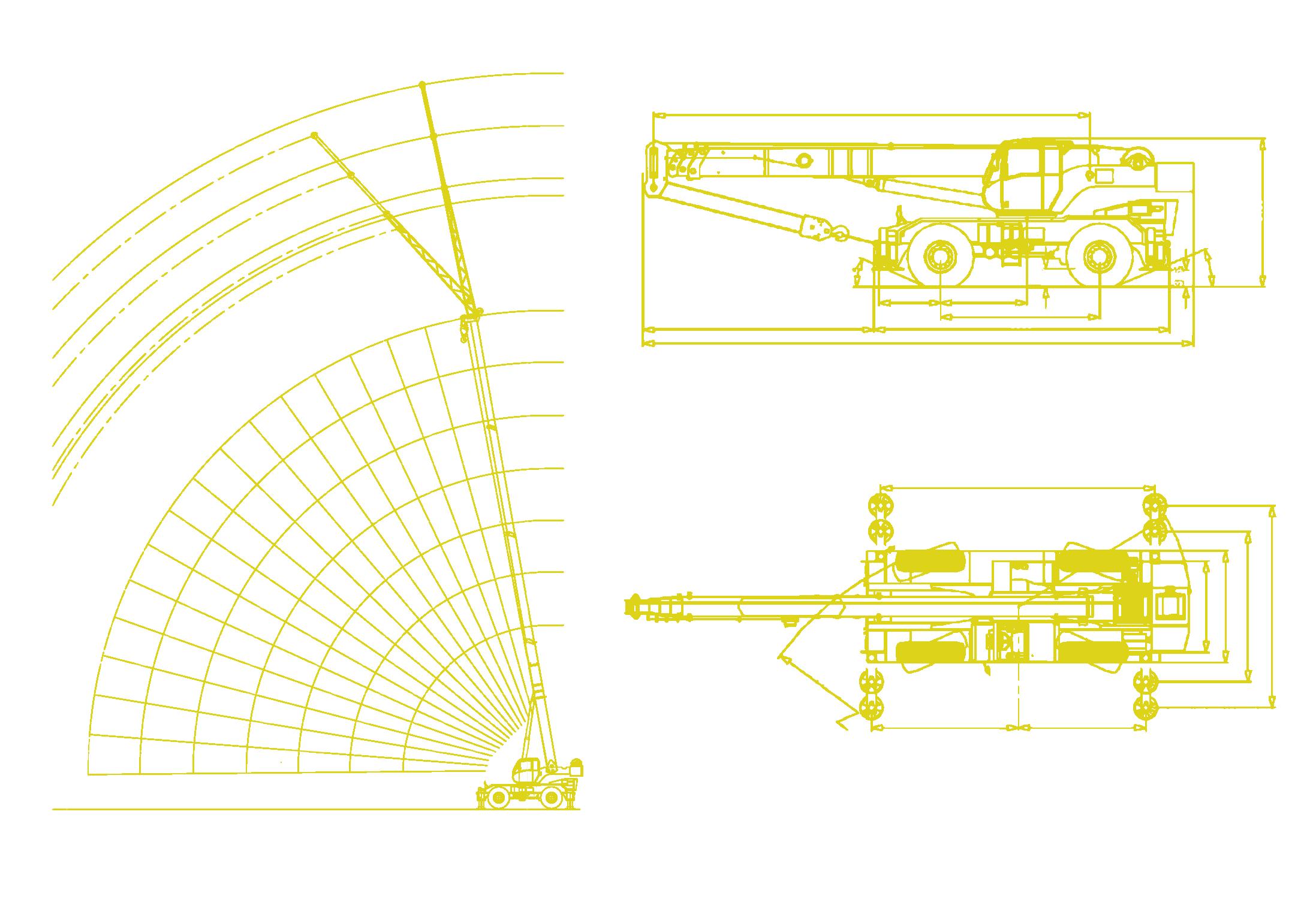 Locatelli - Gril 50.45 Working Envelope and Machine Diagrams