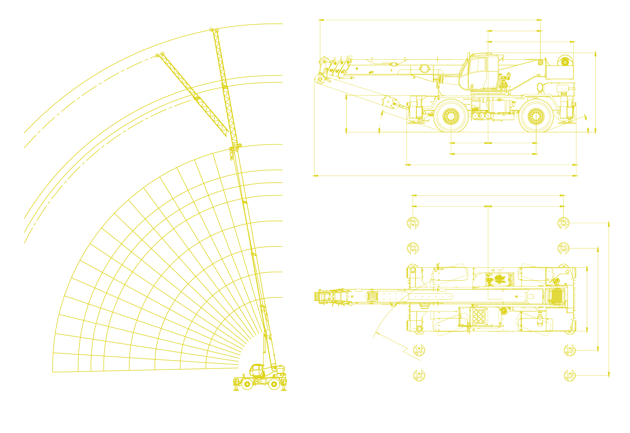 Locatelli - Gril 70.65 Working Envelope and Machine Diagrams